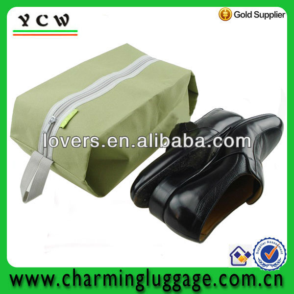 wholesale cheap travel shoe bag with carry strap