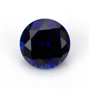 royal color 34#corundum lab created blue sapphire round brilliant cut 3mm