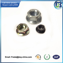 types of hex flange nut / collar nut with knurling