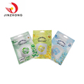 Custom Made Resealable Clear Flat Opp Plastic Three Side Seal Bag With Hang Hole