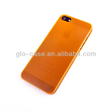 5mm ultrathin semitransparent smart phone case for iphone 5s