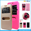 Guangzhou Cellphone Case PU Leather Double Window Flip Cover For Tecno H6
