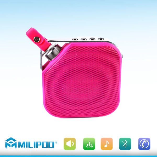 Super mini Hifi Bluetooth Stereo Speaker with Hanging hook Loudspeakers Boombox Sound box