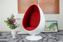 JH-069 classic fiberglass oval egg chair