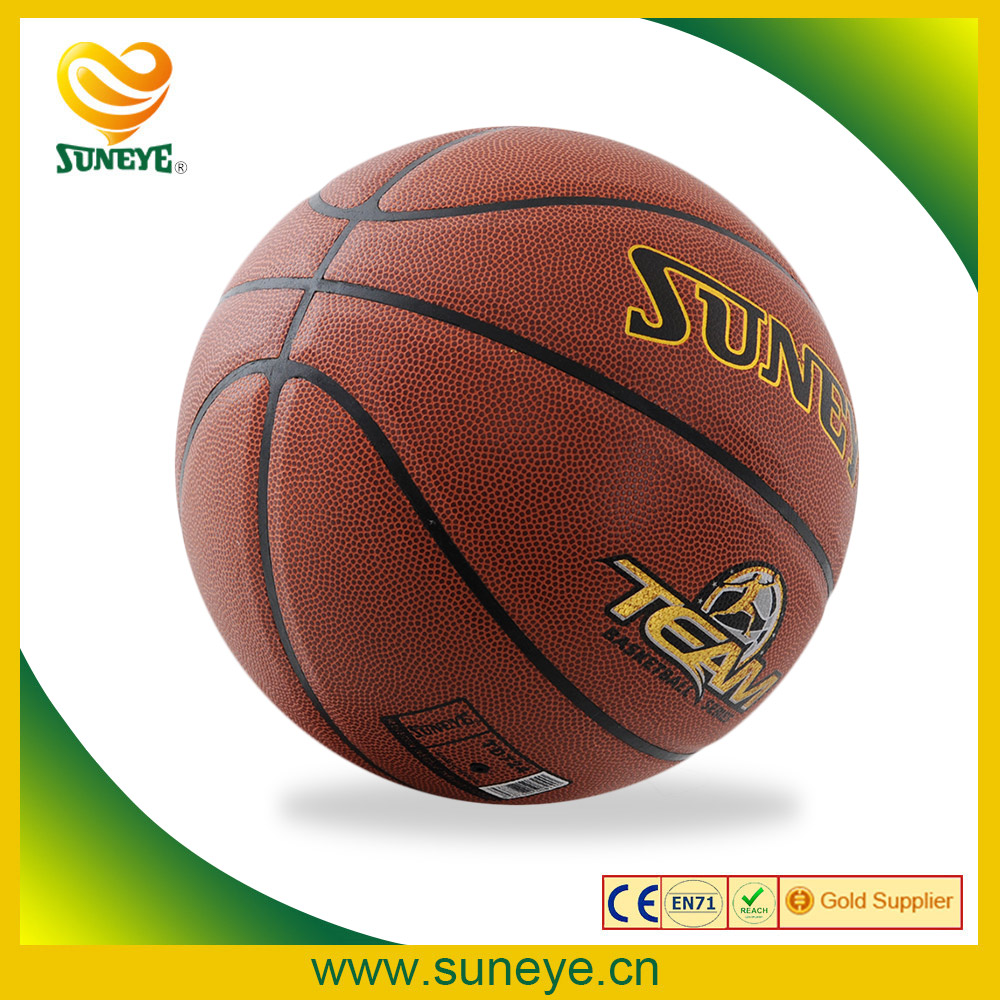 Printed Custom Logo PU Leather Stress Basketball