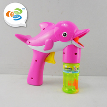 summer outdoor toys fish interesting music bubble gun kids for wholesale