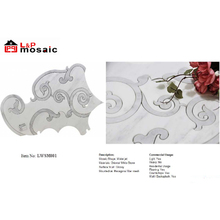 2018 Hot Sale Waterjet Marble Mosaic tiles for kicthen and bathroom backsplash