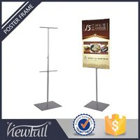 Floor Standing Wire Banner Iron Poster Menu Display