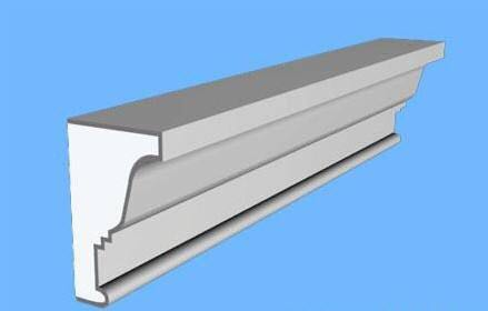 Light Quality Exterior EPS Polystyrene Foam Building Cornices