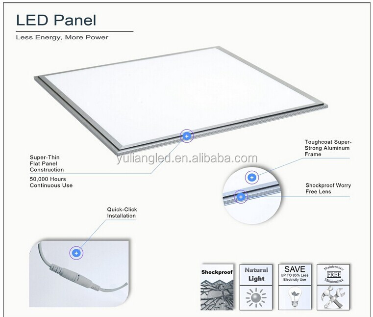 No flicker Low decay 600*600 panel led light