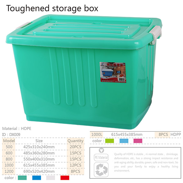 heavy-duty hard opaque plastic storage boxes with locking lid and wheels