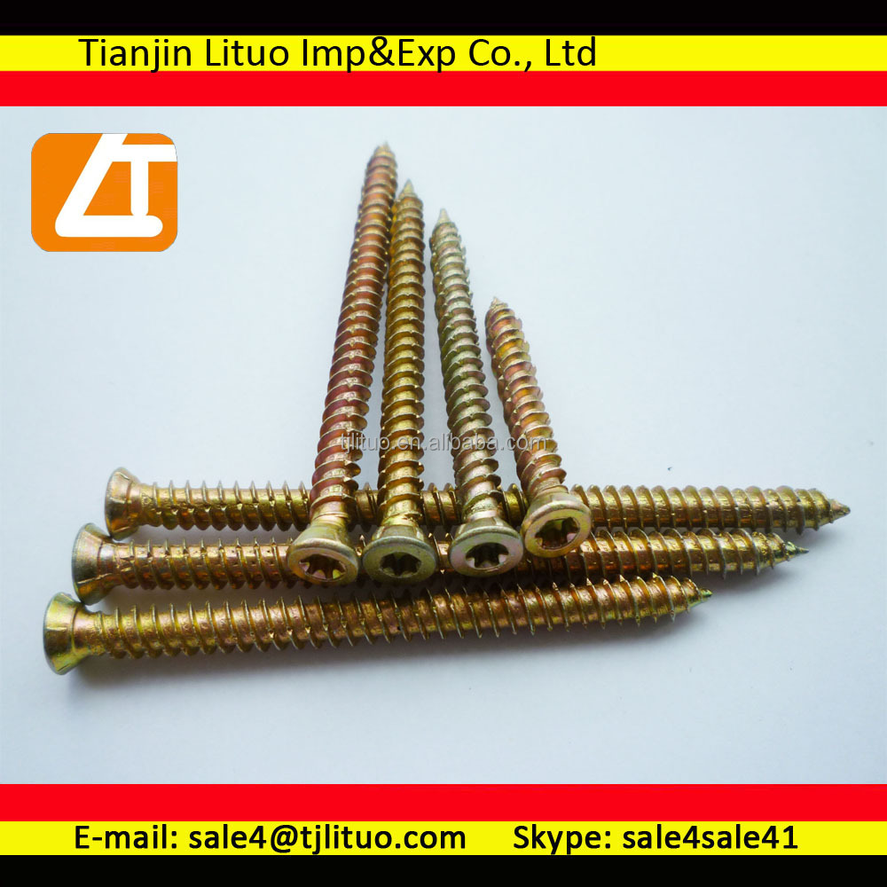 China manufacture exporter supplier Trox Drive Round Head Concrete Screw Cuts Line On The Threaded