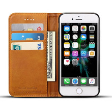 Top Selling in Alibaba PU leather Cell Phone Case For iphone 7 plus case Wallet Style