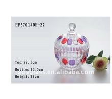 Mini glass candy bottle home candy jar