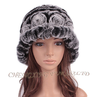 CX-C-195H Fashion High Quality Wholesale Rex Fur Cheap Bucket Hats