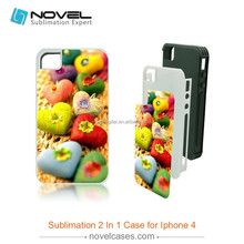 Heavy Duty Sublimation 2 in 1 Mobile Phone Case for iPhone4/4S