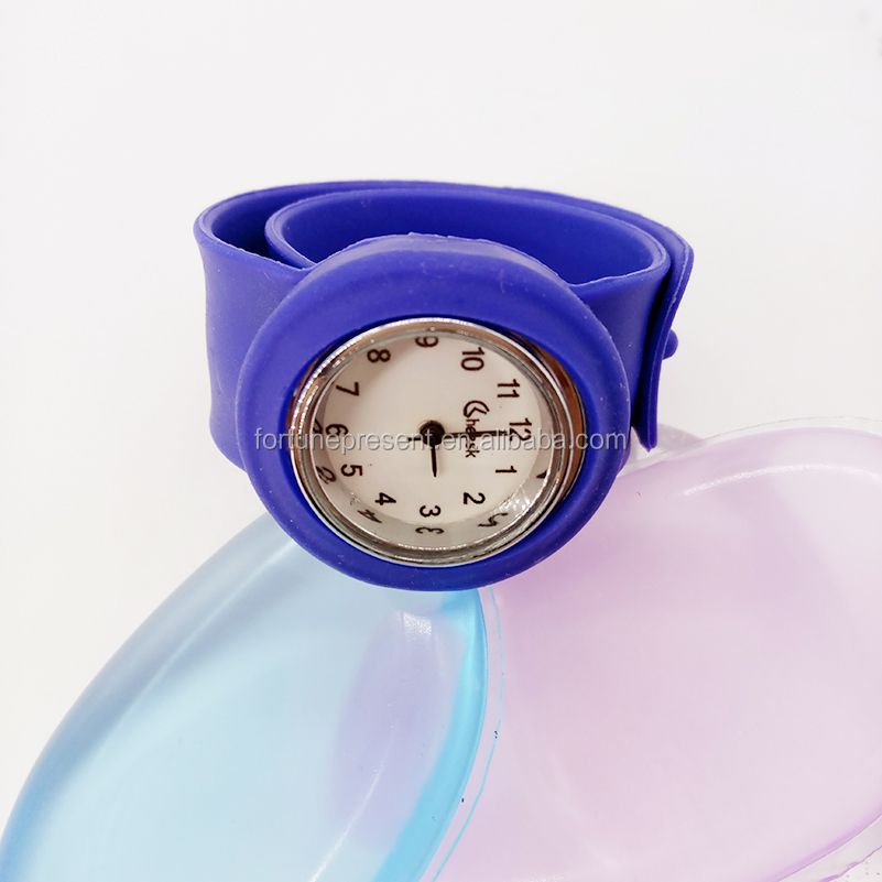 New colorful watches hot wholesale colors silicone slap watch cheap children watches
