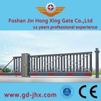 Aluminum Electric automatic sliding Flexible Expanding Gate for Outdoor Usage 918B