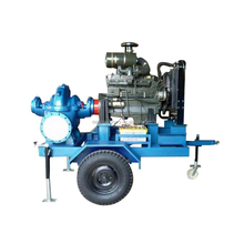 horizontal dewatering pump split case flood pump 2 wheel trailer pumps