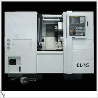 CL15 series small slant bed cnc lathe machine with 8 station hydraulic turret
