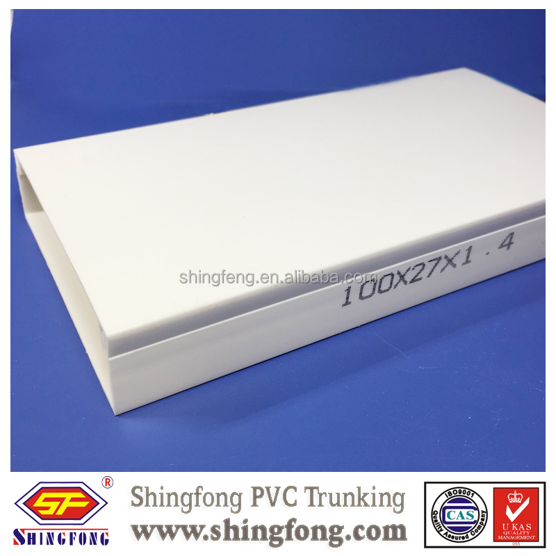 Indoor/Outdoor PVC channel,Electrical Cable Duct Use for Wire Commercial/Industrial PVC Trunking