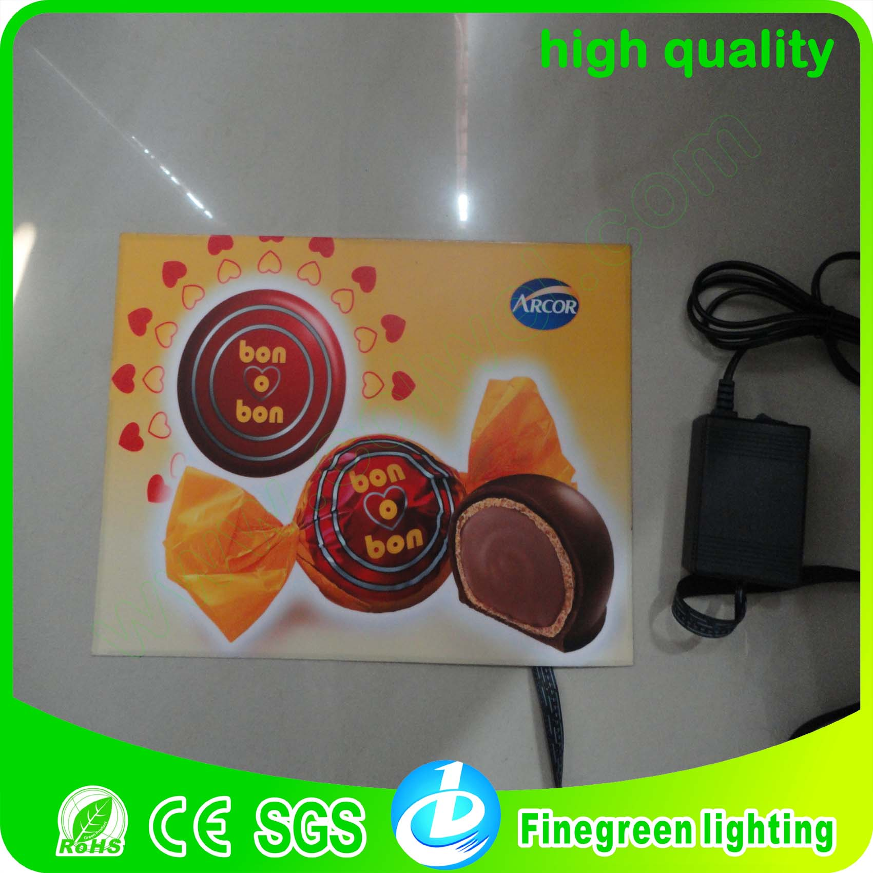 A3 animated advertising indoor el light sheet