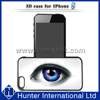 Fashion Big Blue Eyes Protective Case For iPhone5 3D