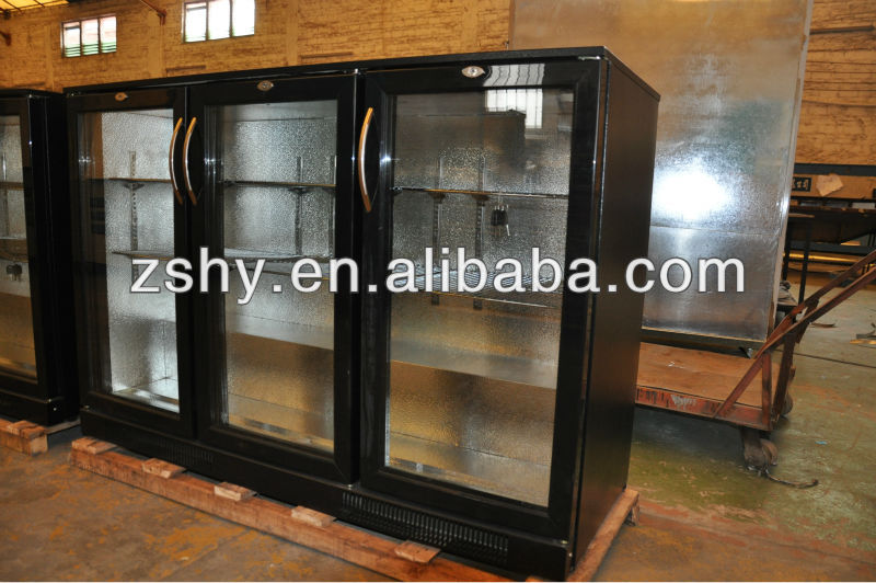 198L beer cooler with double glass door