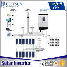 BESTSUN New generation 10000w Huawei grid tie inverter connect to pv array box for whole house solar power system