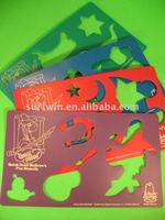 Plastic painting stencil and template