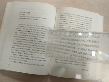 BHM-07 PVC fresnel lens soft flexible magnifier bookmark