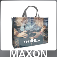 shining glossy hot sale high quality shopping bags,laminated non woven bag