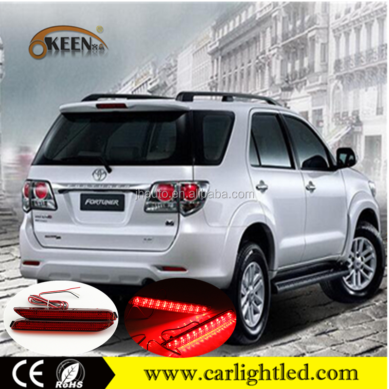 KEEN 12V Waterproof car led rear bumper reflector light brake tail lamp for Toyota 09-12 Camry Lexus ISF 2008 Innova Fortuner