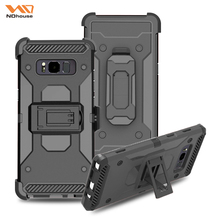2017 3 in 1 shockproof armor pure color tpu pc phone case back cover for samsung note 8