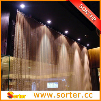 Architectural Metal Drapery Room Divider for Interior Decoration
