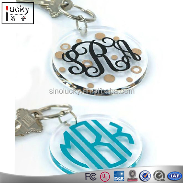 Acrylic Key Ring Hanging Drop Christmas Decorations With Wholesale