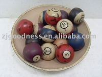 "2-1/2""D Handicraft Wood balls decoration"