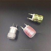 OEM colorful Aluminum 1port 5v 1a usb ac power adapter usb wall charger for smartphone cell phone