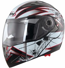 DOT approved modular dual visor flip up motorcycle helmet