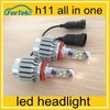 12V 24V 6000K Cree Car LED Light Bulbs, 3000lm High Power Cree LED Headlamp, H11 LED Headlight