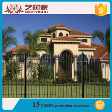 2016 hot sale wrought iron fence for home/japan popular iron fence design