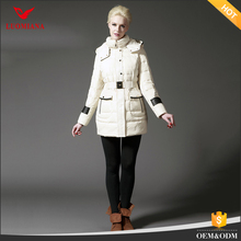 Beijing High end factory Ladies Winter Coats Custom filling Woman long down cotton cotton-padded coat