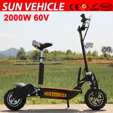 wholesale low price e scooter 60V 2000W with brushless gear motor