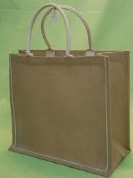Jute bag with wrapped handle / Jute shopping bag.