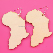 Latest Model Fashion Wood Color Hanging African Earrings For Womens