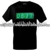 Digital Clock Black Color Flashing Adult T-Shirt