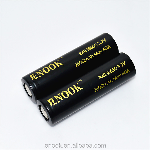 Enook 18650 2600mAh 40A 3.7v electric cigarette battery