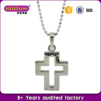 Accessories gift wholesale cross necklace carbon