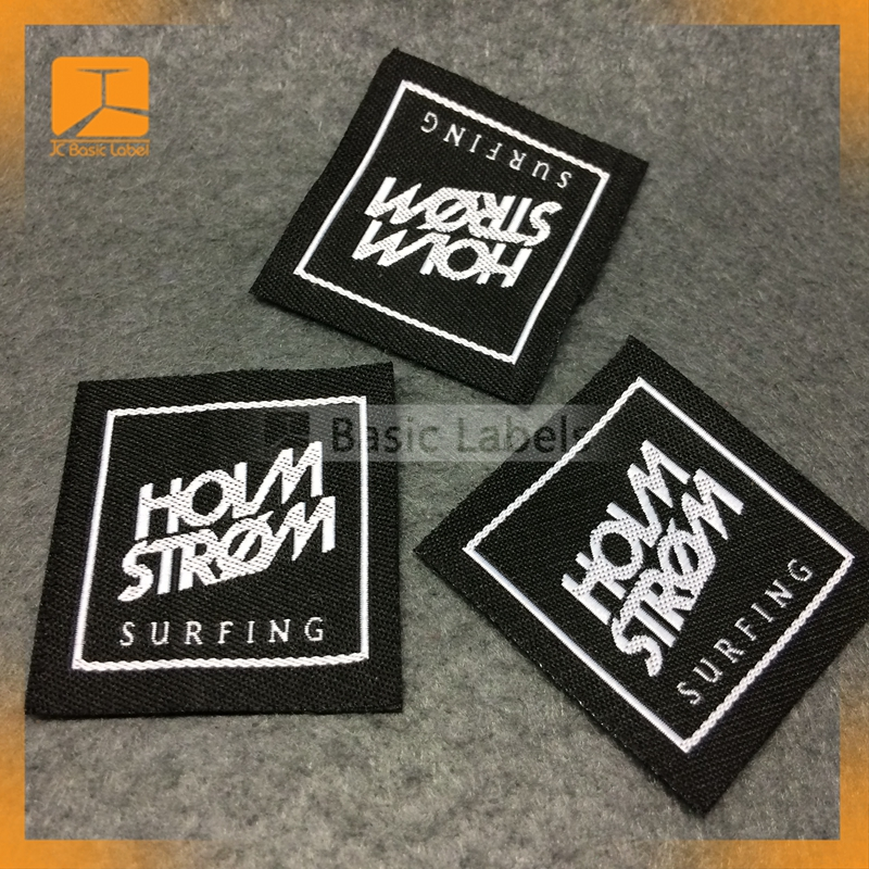 Nylon Custom Brand name Woven Clothing Labels wholesale cheap/Garment High Density Woven Labels