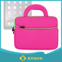 Custom pink 13 inch neoprene laptop sleeve with handle